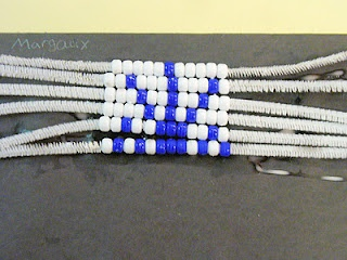 simplified wampum belts for young kids, using a pattern (kid designed) and pipe…