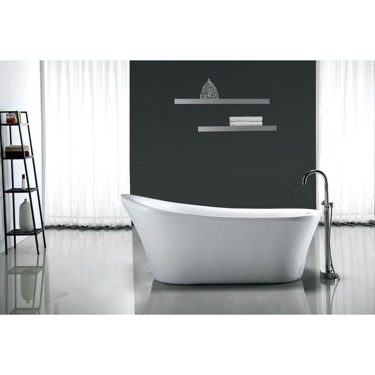 OVE Decors Rachel 5.8 ft. Reversible Drain Bathtub in White-Rachel 70 - The Home Depot