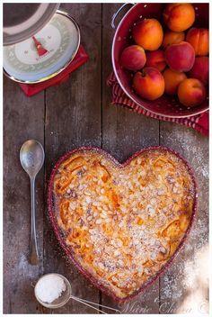 Clafoutis miel-amande, au petit épeautre et abricots Bergeron ( IG Bas, Sans Lait )