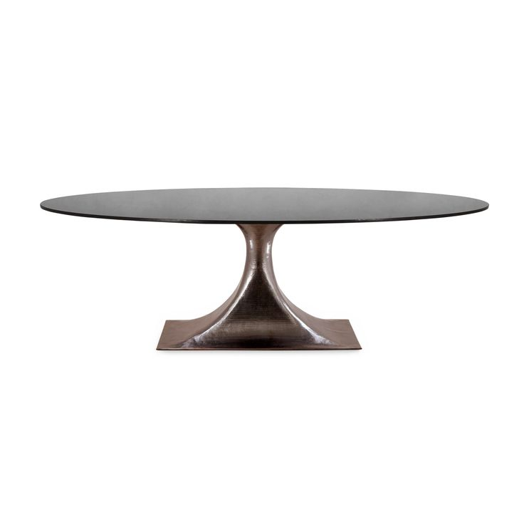 "Stockholm Bronze Oval Dining Table Base (Pairs with 95"" Top, Sold Separately), Bronze - Bungalow 5"
