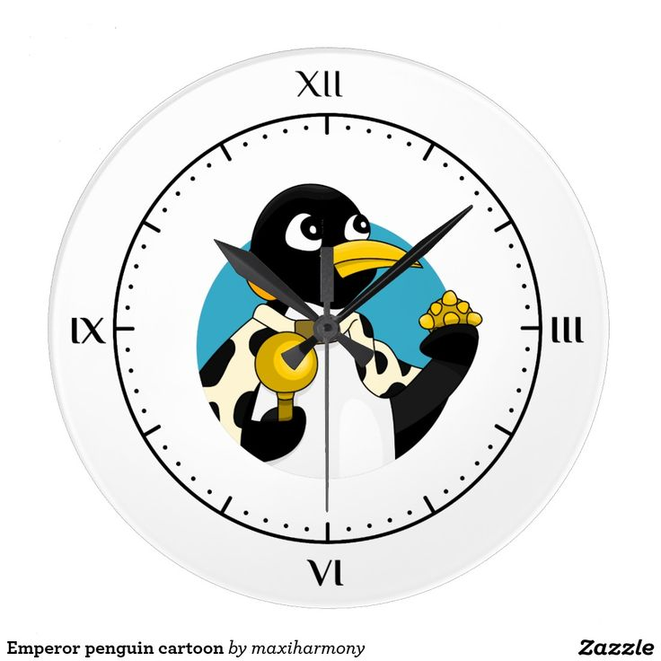 Emperor penguin cartoon clocks