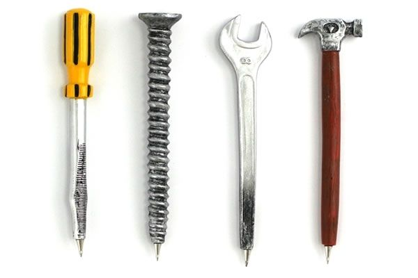 Hand Tool Pens Set Of 4 - only $21.99 | Unique Gifts & Home Decor | Karma Kiss