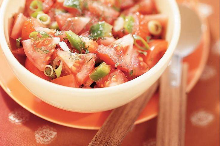 Kijk wat een lekker recept ik heb gevonden op Allerhande! Marokkaanse tomatensalade