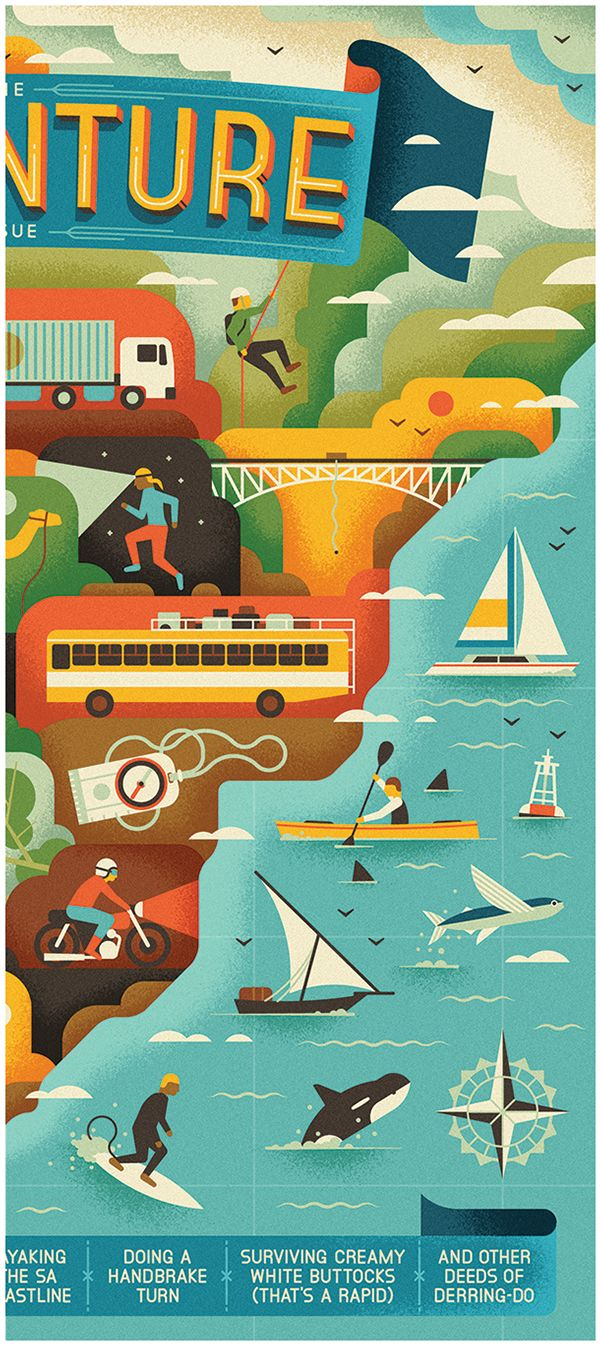 Highlife SA - The Adventure Issue by MUTI, via Behance