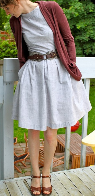 Simplicity 2444 - similar fabric/casual look. Pretty belt and sandals