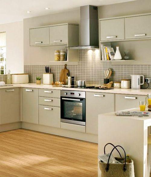 acık renk-Ankastre mutfak modeli