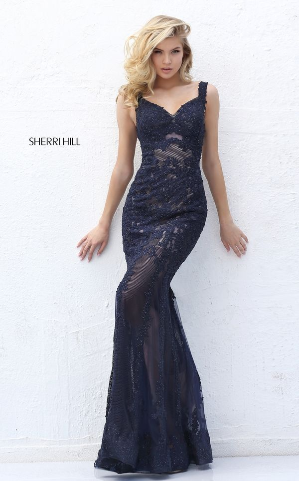 2016 Spagetti Straps Sweetheart Beading Lace Mermaid Prom Dress Pattern 50762