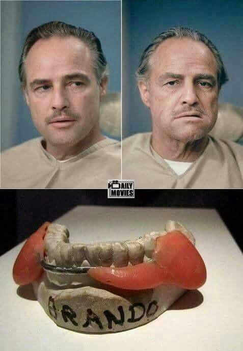 Marlon Brando before and after the godfather makeup