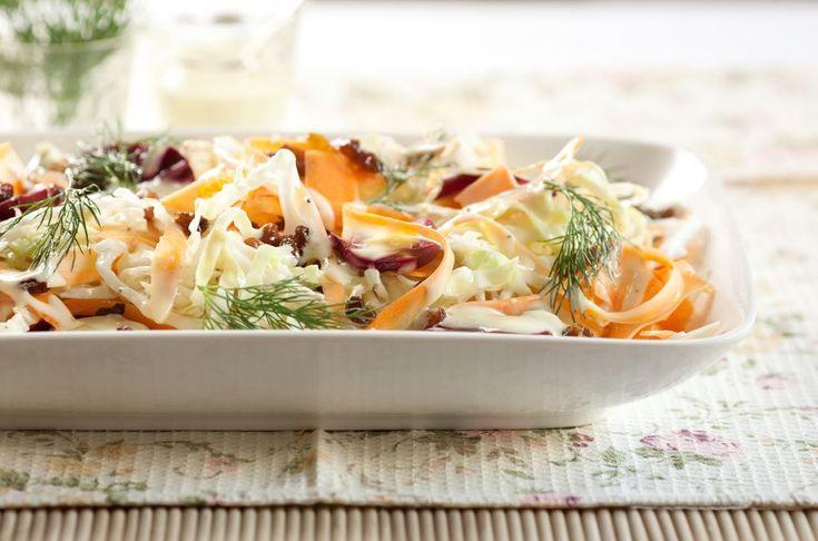 Ensalada con remolachas, repollo blanco, y zanahorias - Maru Botana