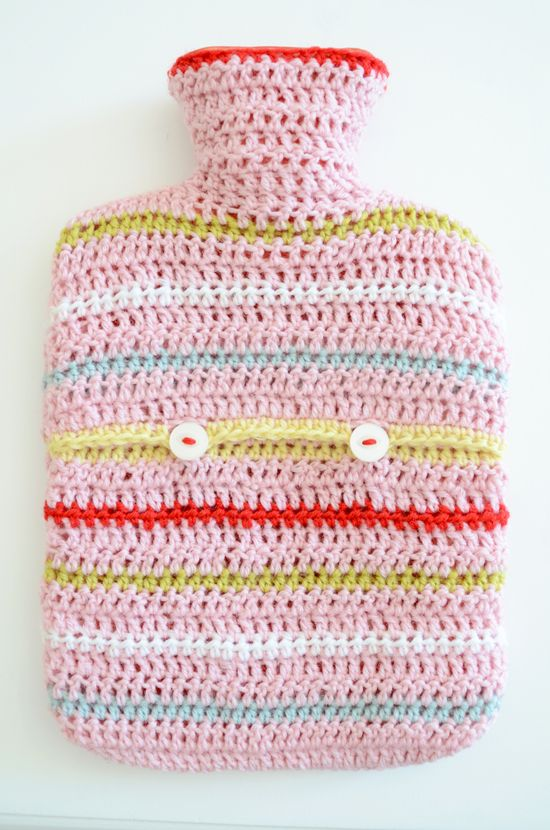 Another crochet hot water bottle cover ♡