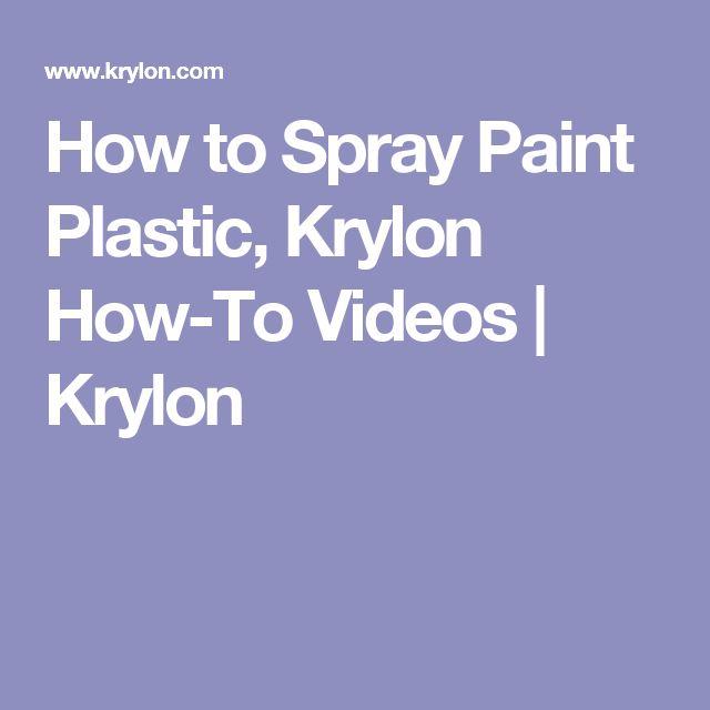 spray painting plastic on pinterest paint plastic painting plastic. Black Bedroom Furniture Sets. Home Design Ideas
