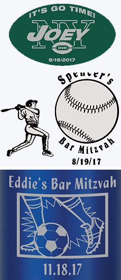 Enhance your Bar Mitzvah or Bat Mitzvah favor with your favorite sport or sports team to make it personal.