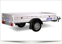 he exclusive Alu-Line Series Trailers without brakes with 35 cm. High Alusider. Inner lashing hooks and built-in closing brackets. Strong and practical Trailer series, Where all the details are thoughtfully Finish and appearance are paramount.