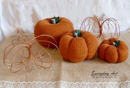 Everyday Art: DIY Sweater Pumpkins http://www.our-everyday-art.com/2013/09/diy-sweater-pumpkins.html