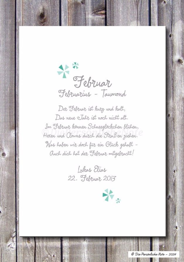 Aufgepasst, Januarkind und Februarmädchen, Märzbaby und Aprilgeborene! :)   Geburts(tags)verse für kleine Winter- und Frühlingskinder:   Fröhlich gereimt und ganz individuell mit Kindernamen...