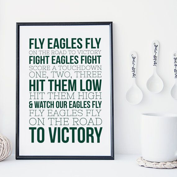 Philadelphia Eagles  Typography  Fight Song   by SnowAndCompany                                                                                                                                                      More