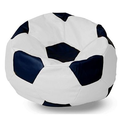 The Soccer Ball Sit On It And Be In Vegan Leather Football Comfort Zone Pinterest Bean Bags