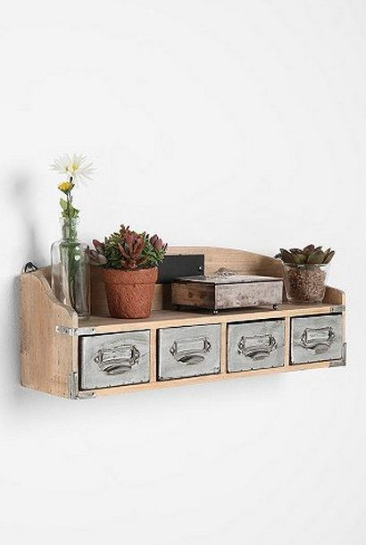 This eco-friendly bookshelf is made with reclaimed wood and recycled metal. Inspired by a classic library card catalog, it includes four rem...