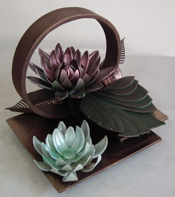 Chocolate art with a bit of color