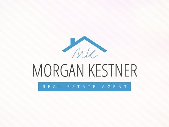 Modern Logo For Real Estate Agent  Instant by SoloBeeDesign