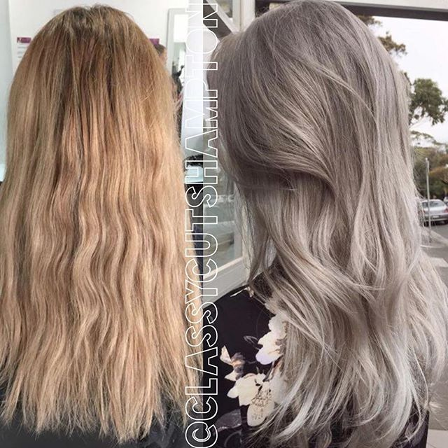 """Gorgeous grey to silver blonde for our lovely client Holly! Absolutely stunning! <span class=""""emoji emoji1f60d""""></span><span class=""""emoji emoji1f60d""""></span><span class=""""emoji emoji2764""""></span>️<span class=""""emoji emoji2764""""></span>️ #classycuts ..."""