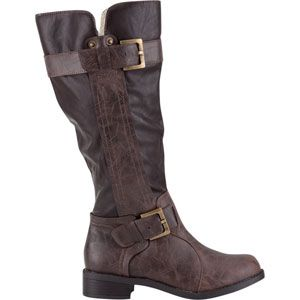 SODA Double Buckle Womens Boots