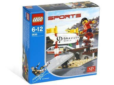 """This is a LEGO Skateboard Street Park Set from 2003. This LEGO Sports set contains 69 pieces including 1 minifig.       Famous Words of Inspiration...""""First they ignore you, then they ridicule you, then they fight you, then you win.""""   Mahatma... more details available at https://perfect-gifts.bestselleroutlets.com/gifts-for-holidays/toys-games/product-review-for-lego-sports-gravity-games-3535-skateboard-street-park/"""