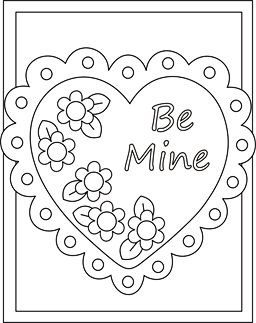 Valentine coloring cards - free printable Valentine cards for kids - classroom Valentine exchange cards - Valentine coloring pages