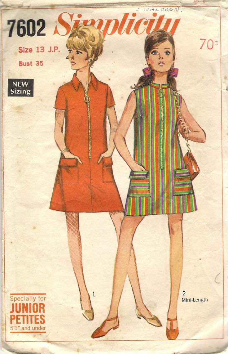 Simplicity sewing pattern. | 1960s fashion | Pinterest