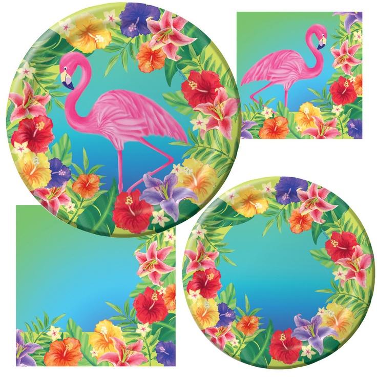 Hibiscus Heat Party Supplies & Decorations #PartyPail #flamingo