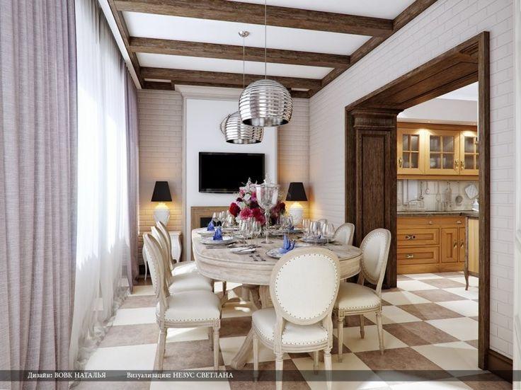 Dining Room Beautiful Designs By Svetlana Nezus Cream Brown Silver Pendant Lighting For