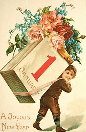 Wishing you a joyous New Year! #vintage #New_Years #card
