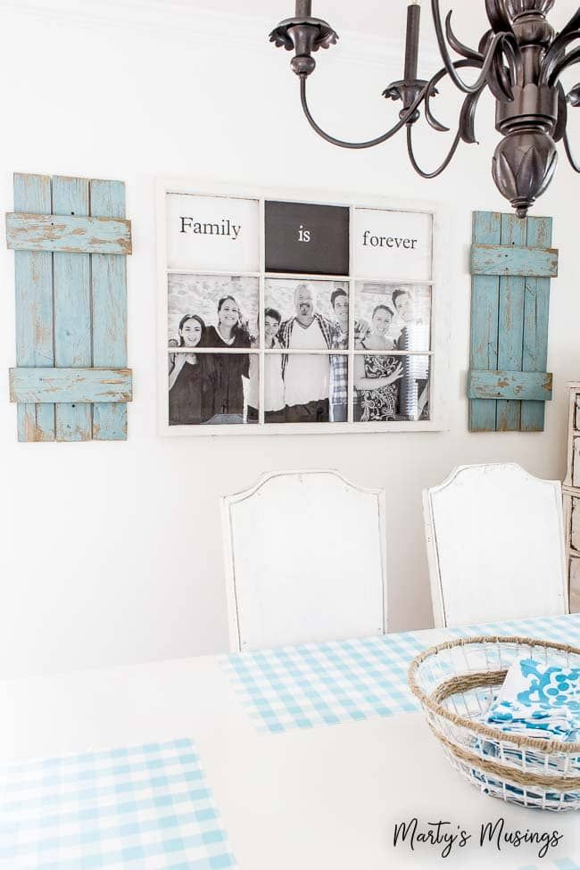 Charming This DIY Tutorial Turns A Cast Off Window And An Engineering Print Sized  Family Picture Into Good Ideas