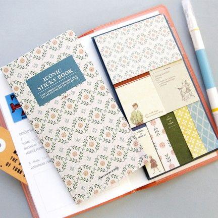 muymolon.com - Surtido de notas adhesivas y marcadores de páginas – Vintage