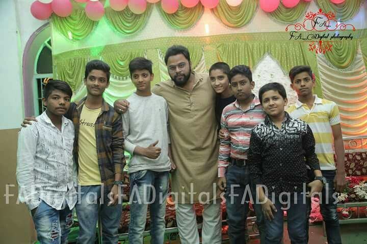 Danish Khan with Young Fans in Hyderabad