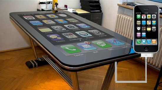 "58-inch iPhone - Table Connect for iPhone is a 58"" multi-touch screen"