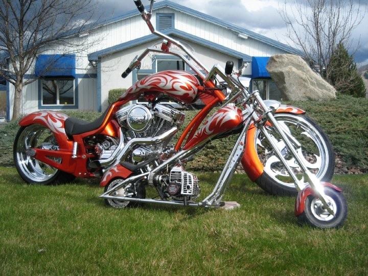 Great Chopper And Mini Bike
