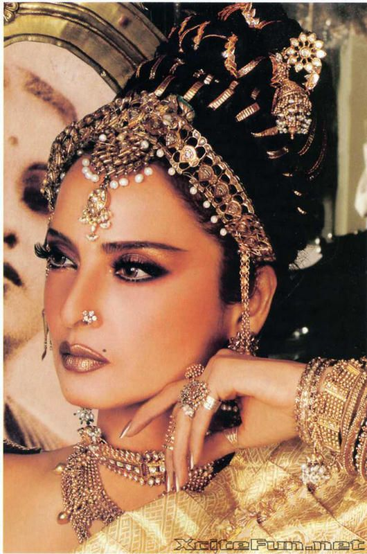 indian jewelry.   Great makeup !