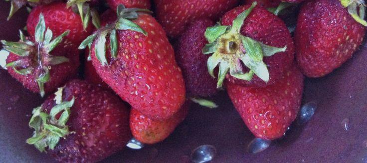 Zumo de fresa con vinagre