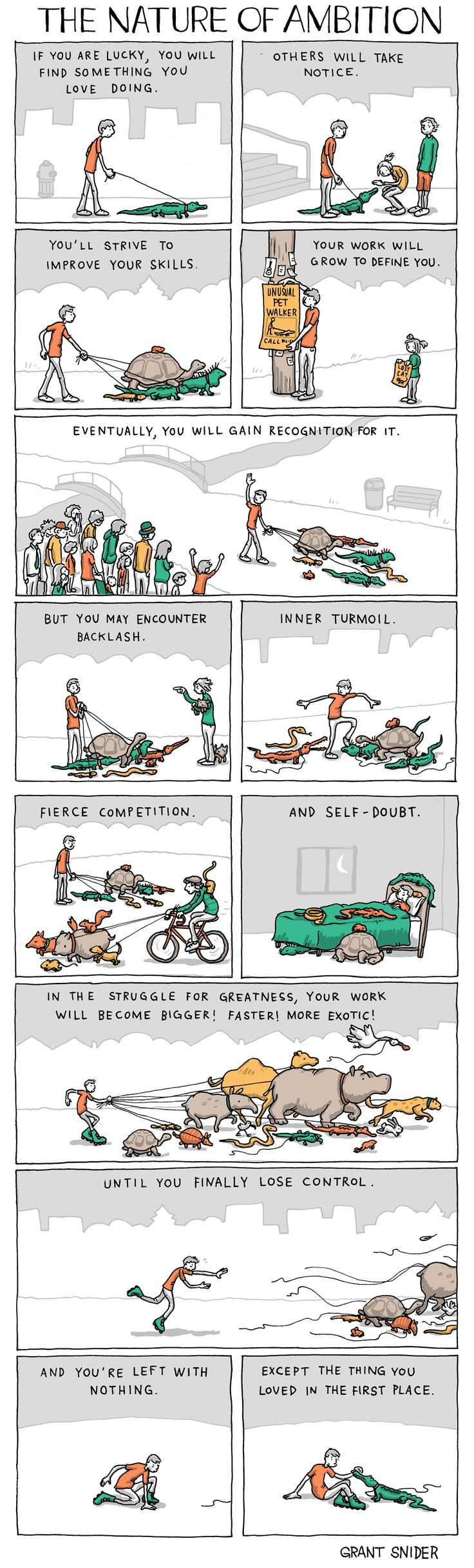 The Nature of Ambition by Grant Snider
