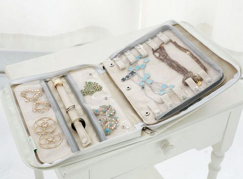 Signature Travel Jewelry Case by clos-ettetoo.com - you can even add additional pages for more jewelry storage