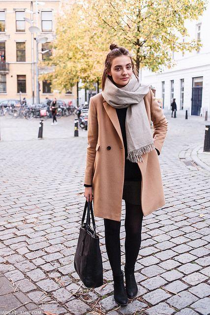 VILA knit ⎢ TOMMY HILFIGER c/o wool skirt ⎢ LIKEMARY c/o alpaca scarf MASSIMO DUTTI coat ⎢ RIB&HULL c/o bag ⎢ STEVE MADDEN c/o ankle boots nov