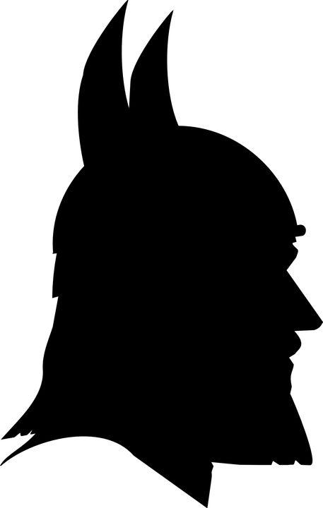 Portræt, Mand, Profil, Norse, Viking, Kriger