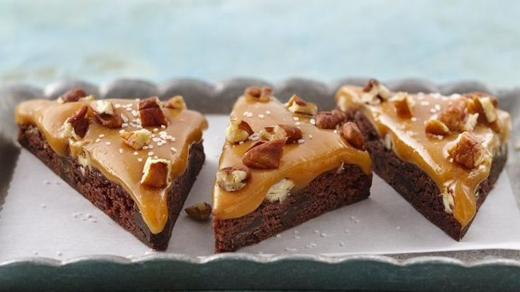 Double chocolate chunk, fudgy brownies meet ooey, gooey caramel and a ...