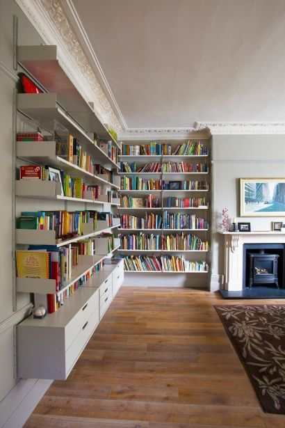 A dado rail and picture rail might cause you to think - What did the wall say to the bookcase ...