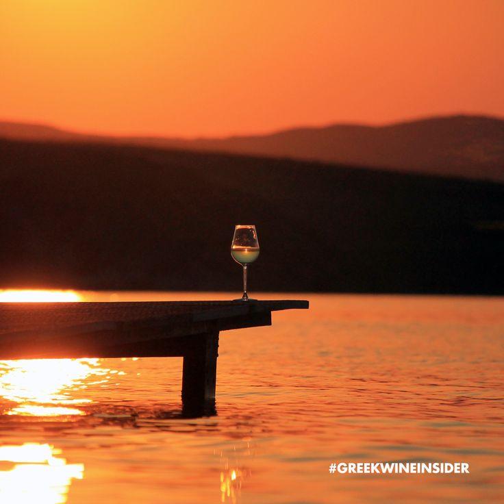 Wine Glass on a Pier