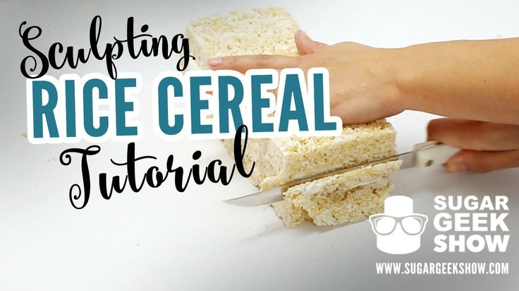 All your questions answered on how to make Rice Cereal for sculpting, carving or gravity defying edible projects! Recipe: 8oz Marshmallows 8oz Rice Cereal 1/...