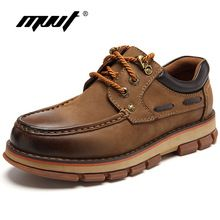 US $57.99 MVVT Genuine Leather Men Boots Safety & Work Boots Top Quality Winter Boots Wear-Resisting Rubber Ankle Boot Men Shoes. Aliexpress product