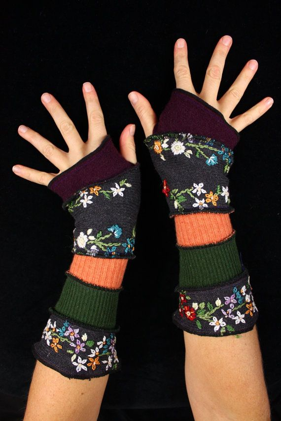 Arm Warmers  made from upcycled sweaters by katwise on Etsy, $25.00