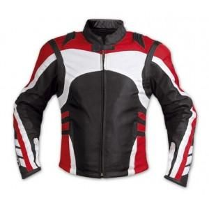 Red/ White and black patterns motorycle jacket with armor protection